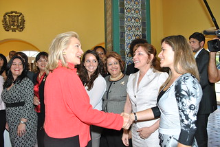 Secretary Clinton Is Greeted By Women's Entrepreneurship Network Participants