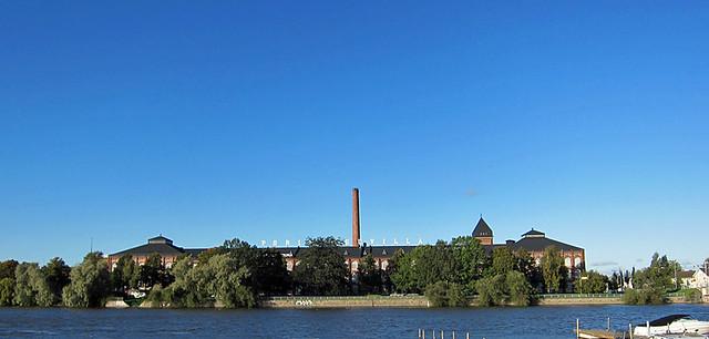 Una antigua fábrica en Finlandia