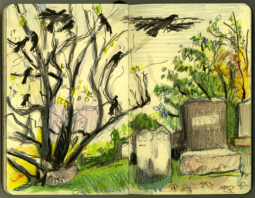 Greenwood Cemetery Crows