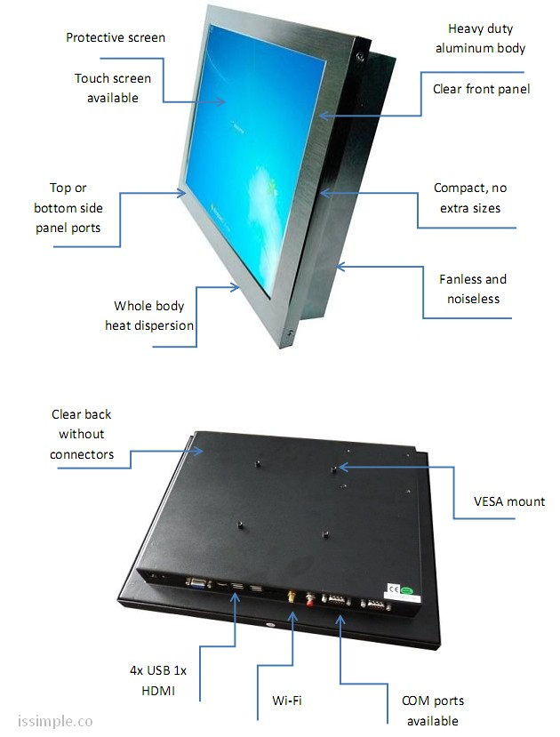 issimple all-in-one pc features