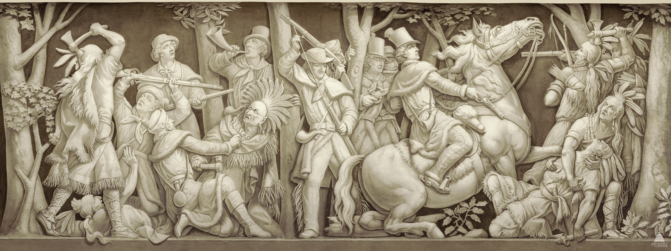 Death Of Tecumseh Architect Of The Capitol