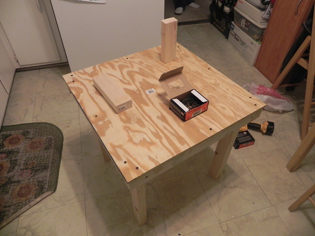 Wood table base 1