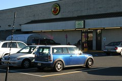Blue Mini Cooper Clubman S At ShopRite
