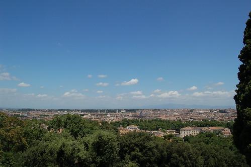 Der rechte Teil dieser Aussicht auf Rom