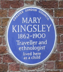 Photo of Mary Kingsley blue plaque