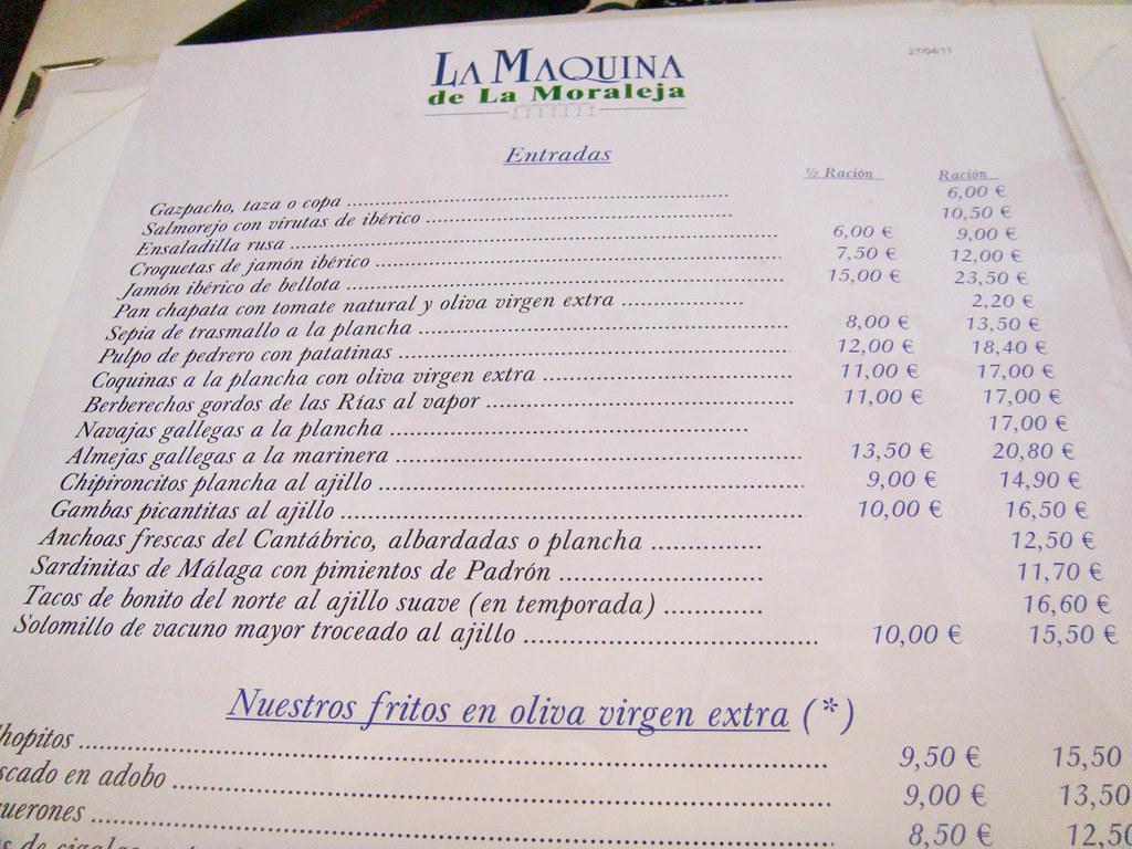 GastroHunter y sus Propuestas gastronómicas de la semana (La Máquina de la Moraleja, El Rincón de Goya, Las Teresas, Juanito Kojua)