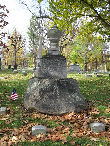 Tombstone of Sarah (Howard) Forrer and Samuel Forrer, Woodland Cemetery, Section 102