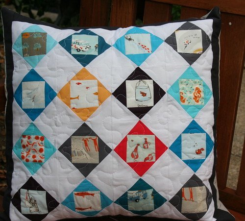 6302409100 7733475d52 Modern Mini Challenge: The Almost Whole cloth Quilt