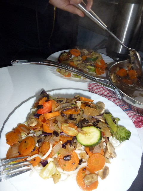 The spicy veg, with noddles and blackbean