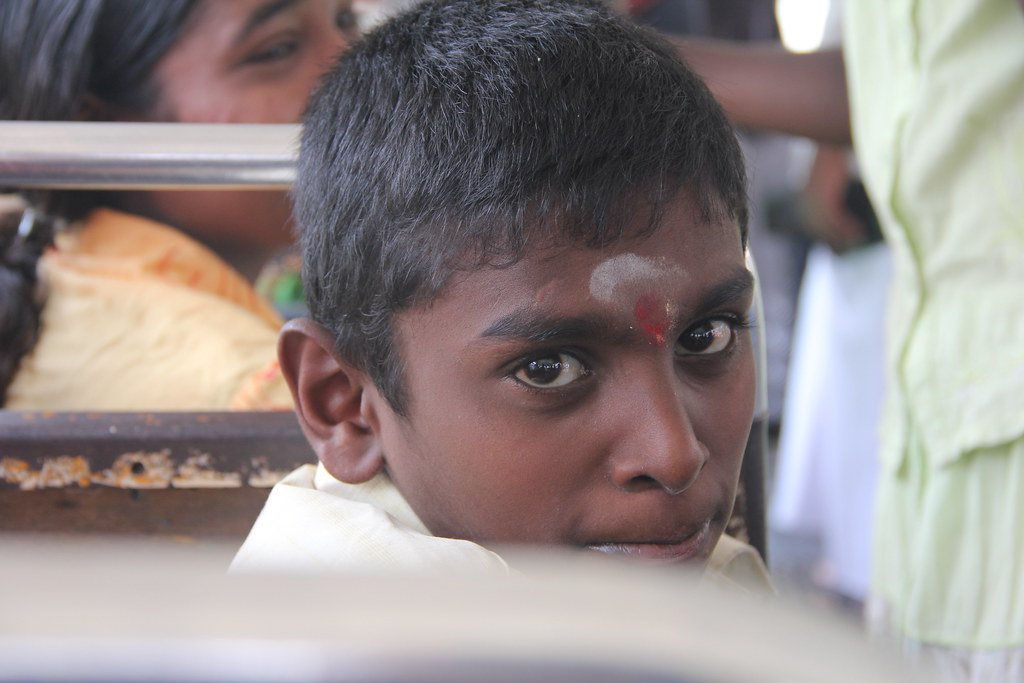 Tamil Boy on Bus