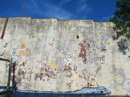 sky weird mural kansas cartoons smalltown stucco ghostsigns bluemound