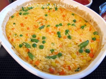 double cheddar rice casserole
