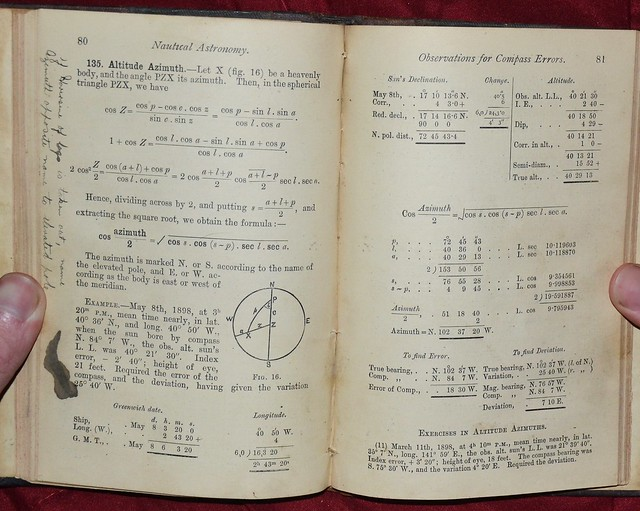 Nautical Astronomy 1901 - azimuth calculations | Flickr ...