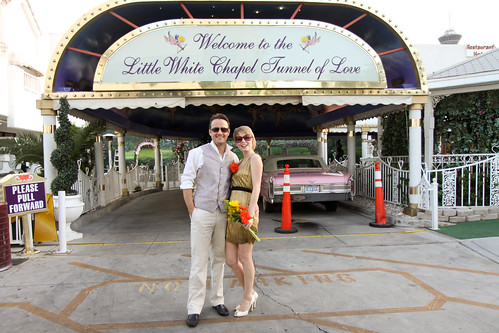 Lisa & Alex's drive-thru Vegas wedding!