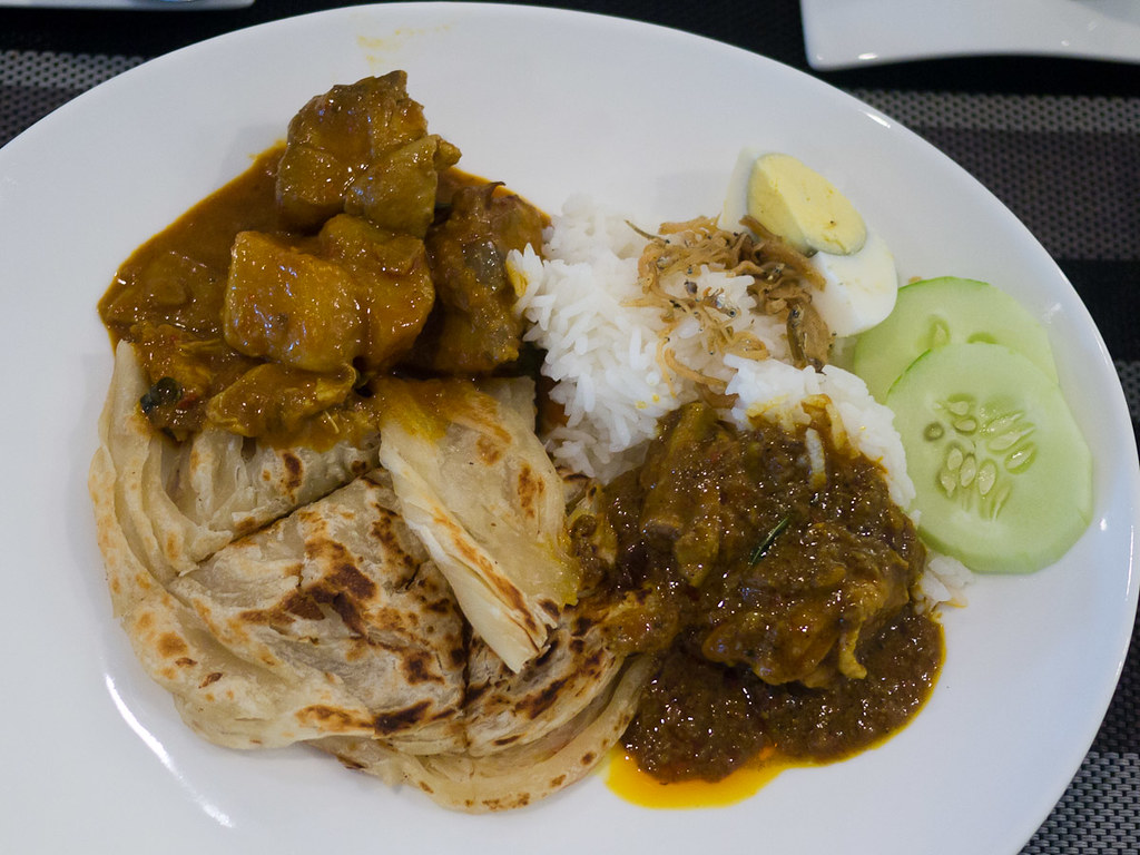 Roti and chicken curry...