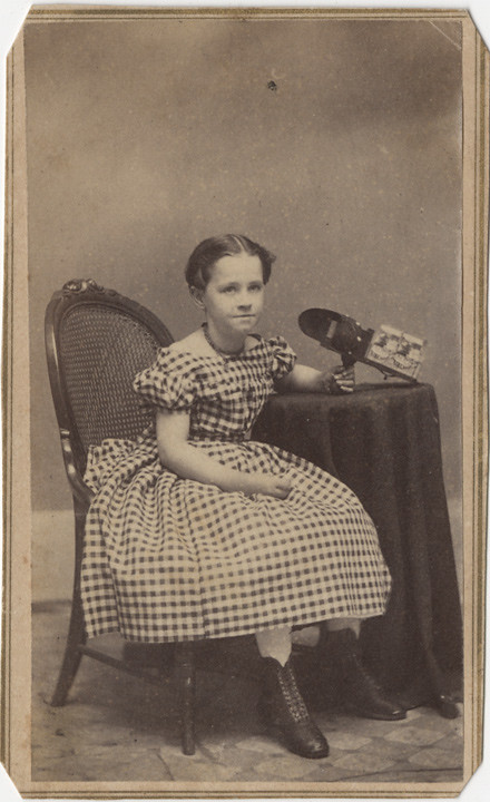 Girl With Holmes Bates Stereo Viewer
