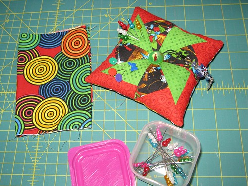 Pincushion, Sewn Spaces Swap