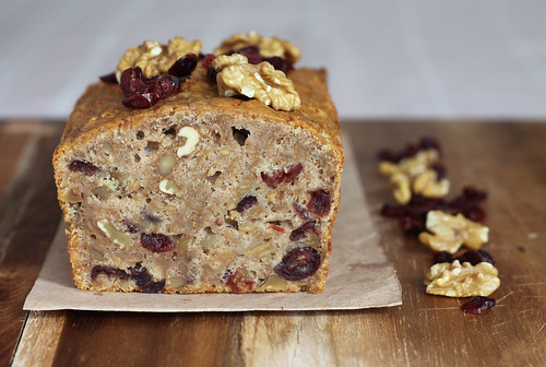Quince and Walnut Cake Styled as Banana Bread