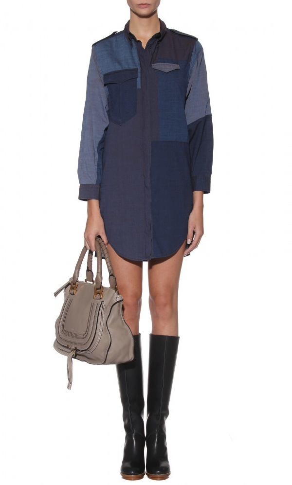 isabel marant FW11 denim patchwork shirt 2