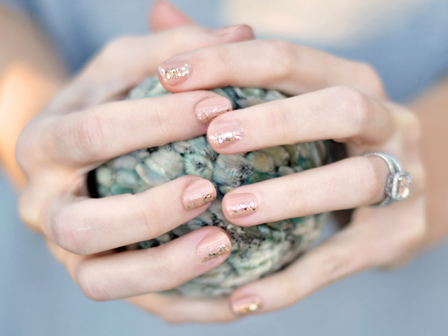 elegant subtle glam nails