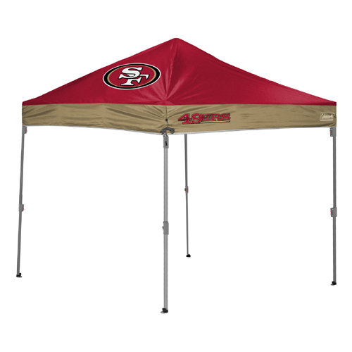 San Francisco 49ers TailGate Canopy/Tent  sc 1 st  Tailgatorz & San Francisco 49ers Tailgate Canopy/Tent Easy Up Shelter Design ...