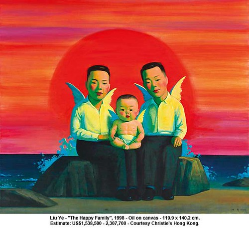 "Liu Ye - ""The Happy Family"", 1998 by artimageslibrary"