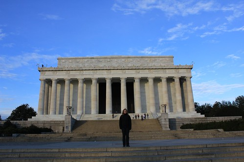 Laura at the Lincoln Memorial