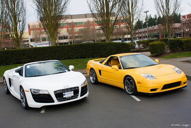audi r8 v10 spyder and acura nsx flickr photo sharing. Black Bedroom Furniture Sets. Home Design Ideas
