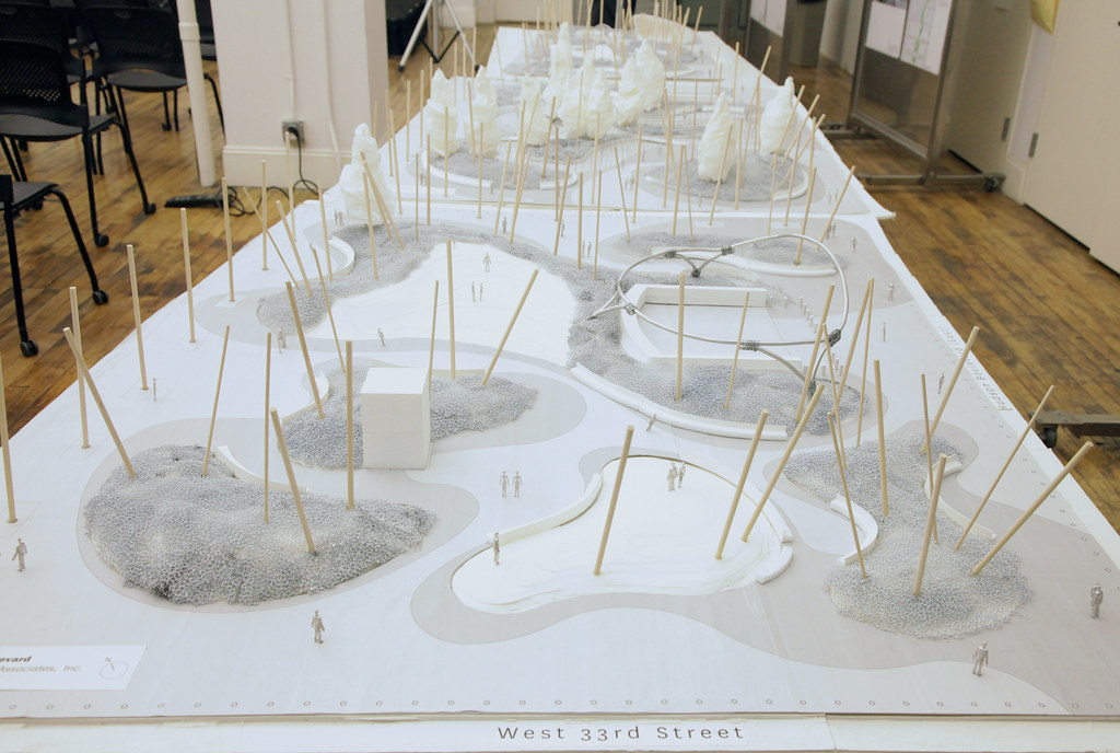 Hudson Yards landscape model.