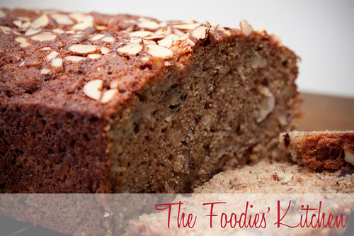 Whole Wheat Almond Banana Cake