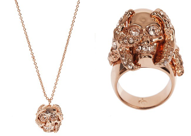 9 - rose gold - shell skull