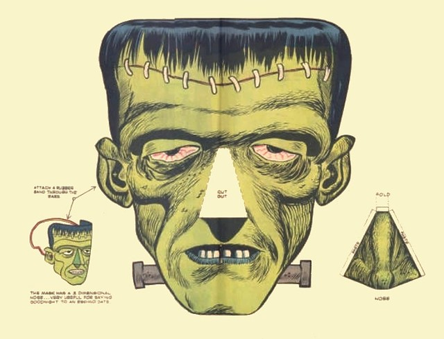 FRANKENSTEIN - Mask - Cut-Out - Comic | Flickr - Photo Sharing!