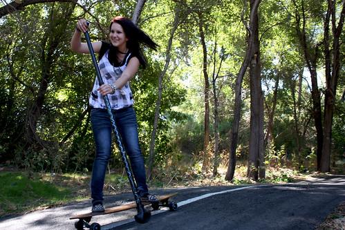 Girl Longboard Utah
