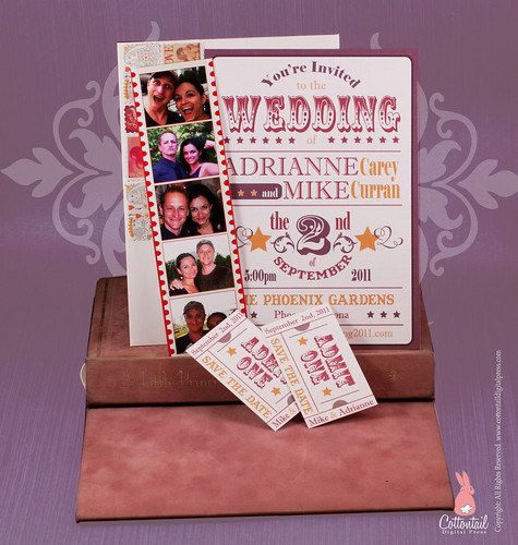 Wedding Invitation Fun Retro Country Western Poster with Tickets by CottontailDigitalPress