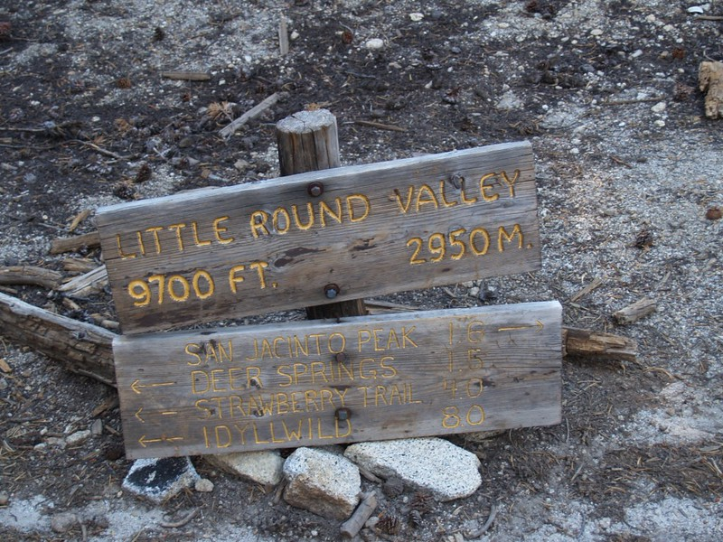 Little Round Valley Sign
