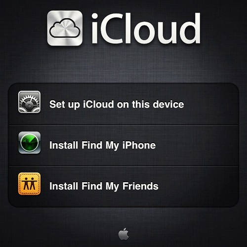 iCloud screenshot from Flickr Creative Commons user CLF