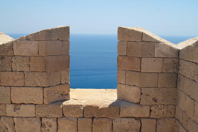 Lindos. Acropolis wall * Линдос. Стена акрополя