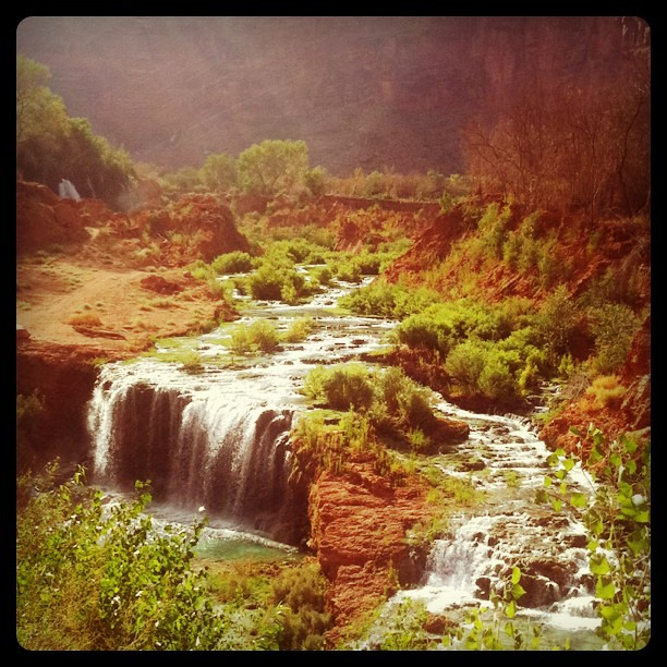 Left the Garden of Eden behind back to reality  #havasupai