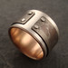mind the gap ring w/ 14k rose gold lining by downtothewiredesigns