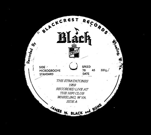 1959  THE STRATATONES LP ALBUM (RECORDED LIVE AT THE HIFI CLUB WHEELING W VA AT JAMES BLACK RECORDING STUDIO)