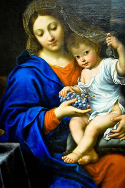 Pierre Mignard - The Virgin of the Grapes, 1650 at Louvre Museum Paris France