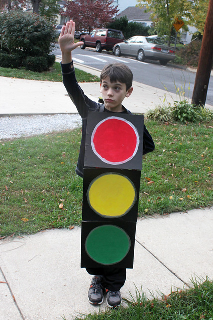 stop light halloween costume from Flickr via Wylio