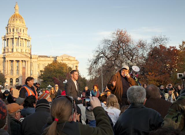 Michael Moore at Occupy Denver