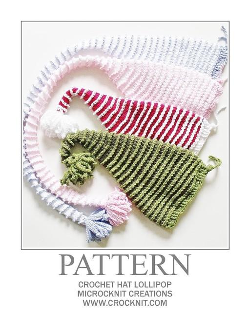 Crochet Pattern: Santa Claus Hat – 5 Sizes