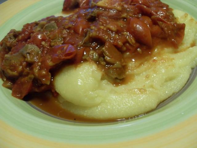 Polenta Valsugana con sugo di porcini e pomodorini | Flickr - Photo ...