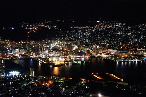 night nikon nightview 夜景 nagasaki kyushu 九州 d300 長崎 nikkor18200mmf3556 長崎港