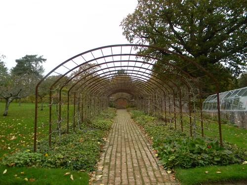 Empty arbour, garden, Batemans