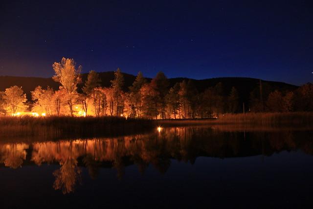 Noches de Otoño en la laguna
