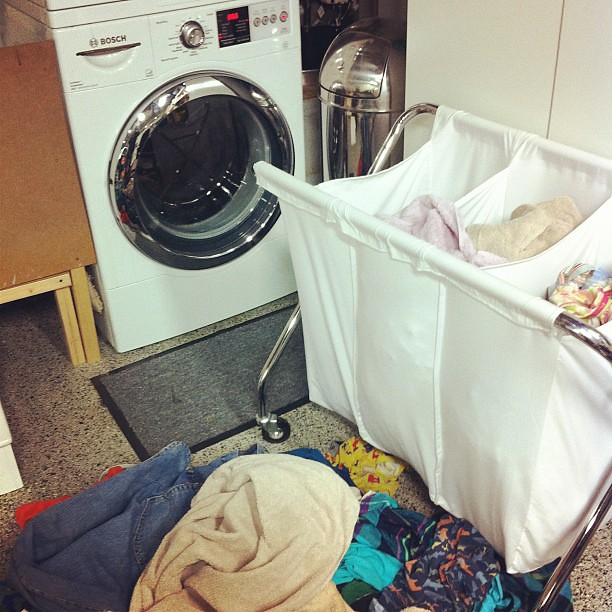 10 on 10 #9 Came home and laundry has piled up. Why am I doing laundry this late? from Flickr via Wylio