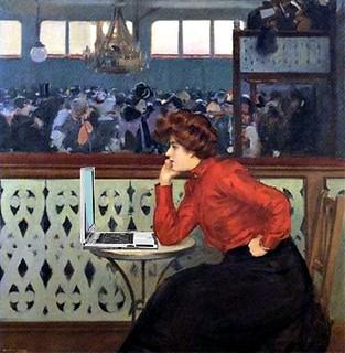 WiFi at Moulin de la Galette, after Ramón Casas i Carbó